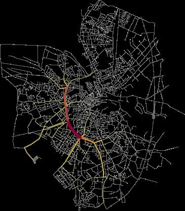 A visual representation of a trajectory cluster