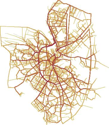 A visual representation of a trajectory dataset